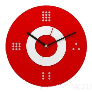 Настенные часы «Красно-белый минимализм»