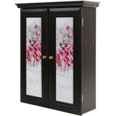 Декоративный настенный шкафчик Кашпо с цветами венге