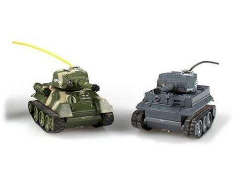 Радиоуправляемый мини танковый бой 1:64