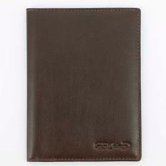Коричневая гладкая обложка для паспорта с визитками S.Quire