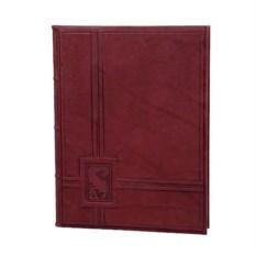 Красная кожаная папка