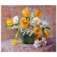 Картина-раскраска на холсте Аромат весны