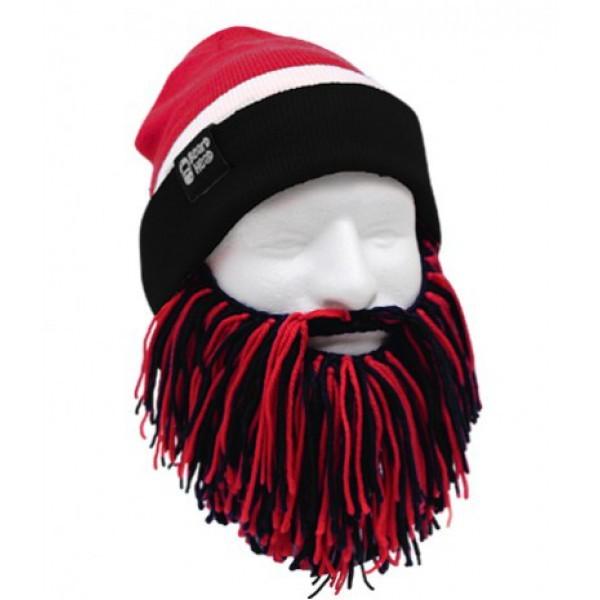 Шапка с бородой Tailgate-Barbarian, красно-черная