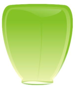 Небесный фонарик Зелёный конус