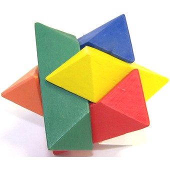 Головоломка деревянная Звезда Бабура (Дзета)