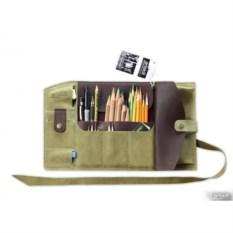 Зеленый пенал кожаный Artskill Pro
