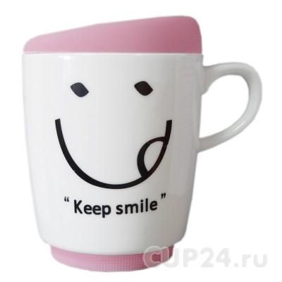 Кружка New Keep smile (розовая)