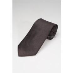 Коричневый галстук из натурального шелка
