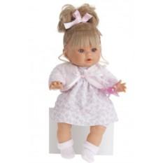 Плачущая кукла-малыш Леонора в розовом