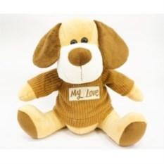 Мягкая игрушка Собака в бежевых тонах (27 см)