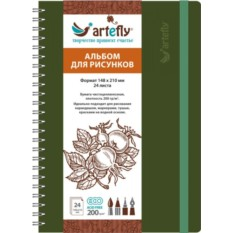 Зеленый скетчбук Artefly