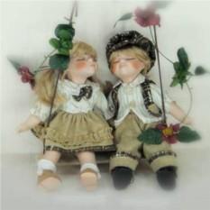 Фарфоровые парные куклы Карл и Клара фарфоровые,  14