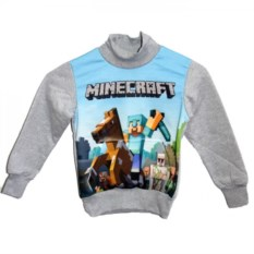 Свитшот с карманом кенгуру Стив на лошади из Майнкрафт