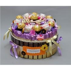 Торт из конфет Лакомка