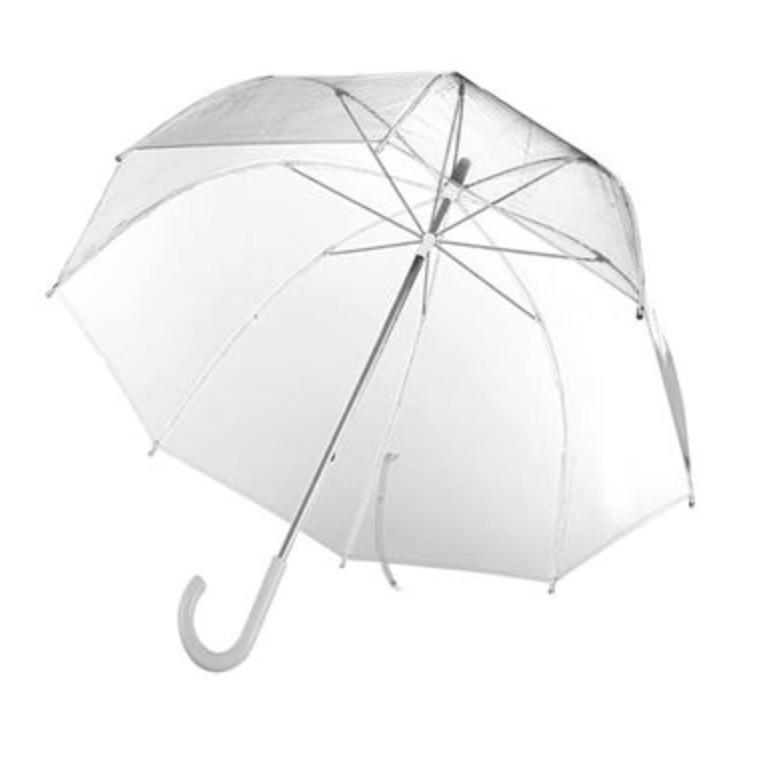 Полуавтоматический прозрачный зонт