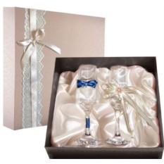 Набор свадебных бокалов №51 в подарочной коробке