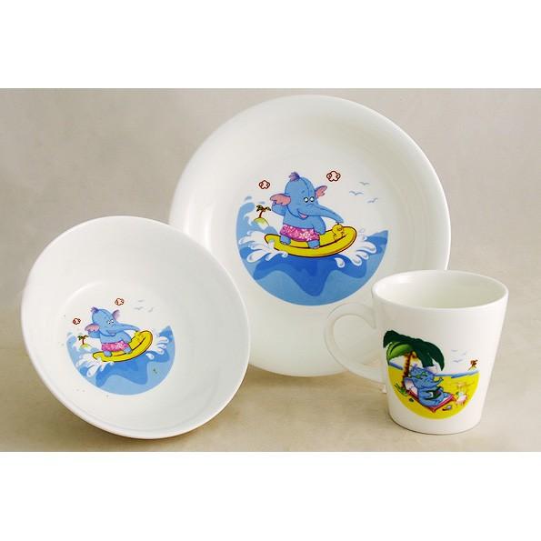Детский набор посуды «Слоник»