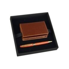 Подарочный набор: визитница, шариковая ручка