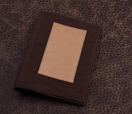 Обложка для паспорта. Коллекция Magistro (коричневый; тип 1; нат. кожа)