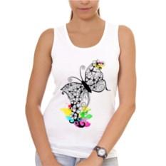 Женская майка Flower butterfly