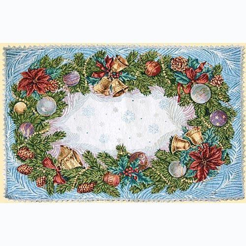 Салфетка декоративная с тесьмой Рождество