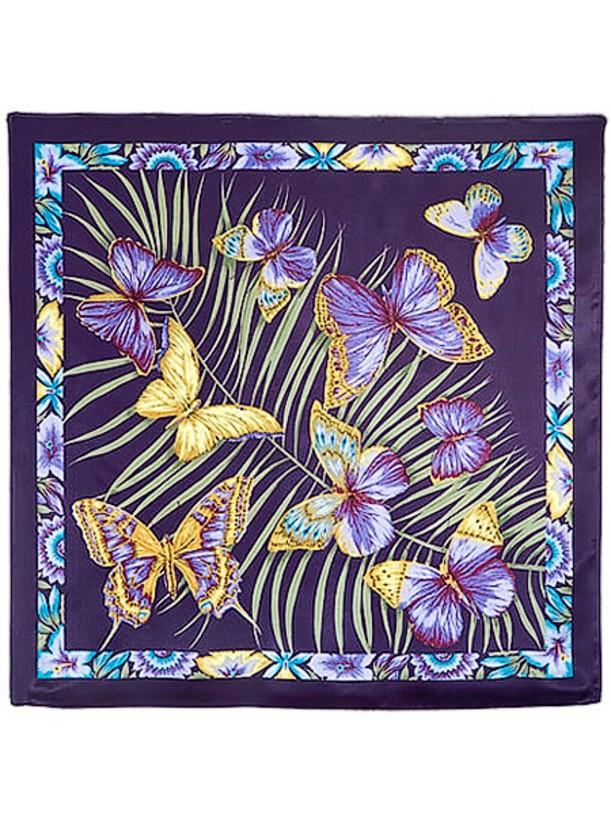 Павлопосадский шелковый платок Фиджи