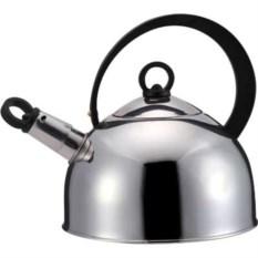 Металлический чайник с черной ручкой на 2,5л Bekker