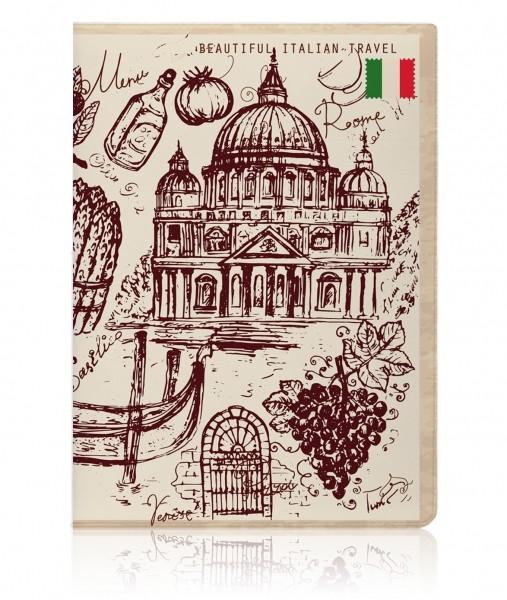 Обложка на паспорт Italy Vintage