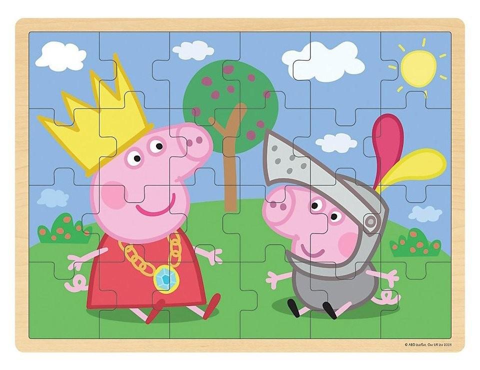Игровой набор «Пазл 39х29 Пеппа и Джордж», дерево, Peppa Pig