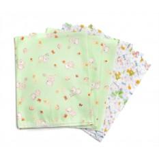 Комплект пеленок из фланели и ситца для новорожденных