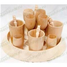 Подарочный набор посуды из дерева Праздничный