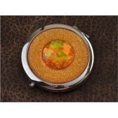 Карманное зеркальце, коллекция Crystal (оранжевый; тип 2)