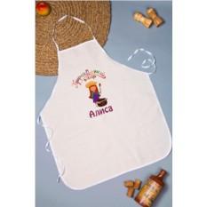 Кухонный фартук с именной вышивкой Прирожденный повар