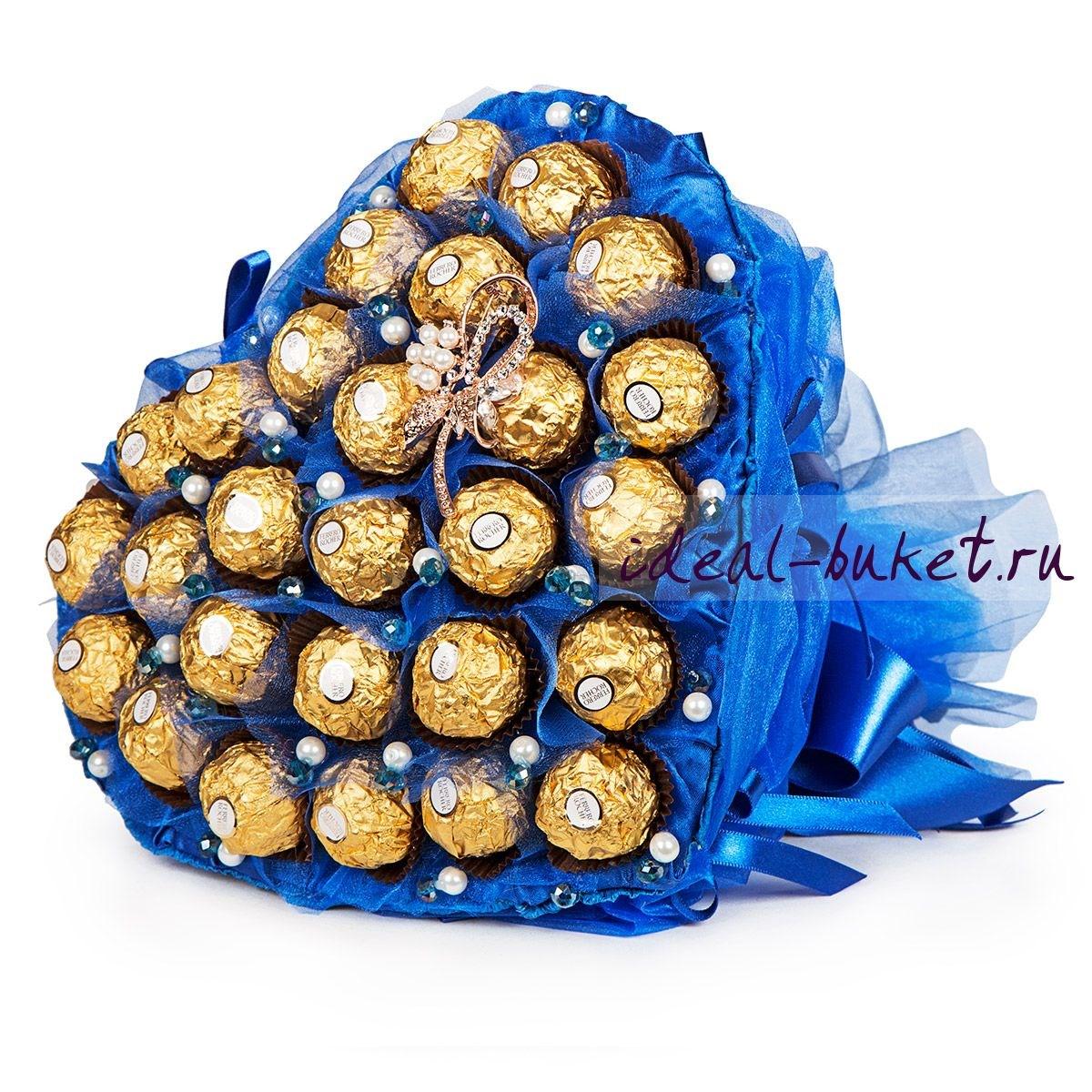 Букет из конфет в подарок фото 23