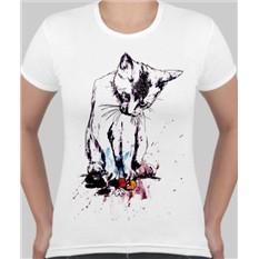 Женская футболка Киса