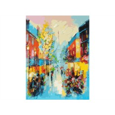Картина по номерам «Улочки Парижа»