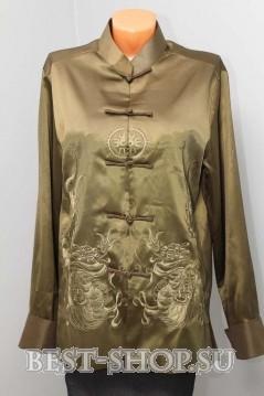 Китайская этническая куртка с вышивкой Дракона
