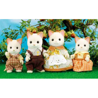 Набор «Семья кремовых котов»