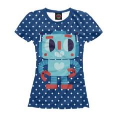 Женская футболка Робот любви