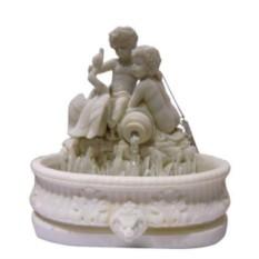 Декоративный фонтан Мифы Рима, белый мрамор