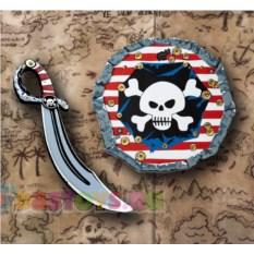 Игровой набор пирата Щит и сабля