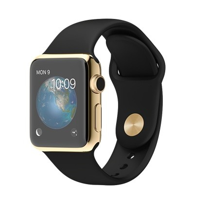 Apple Watch Edition 38mm with Black Sport Band