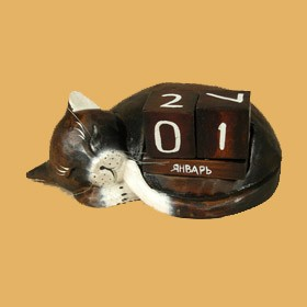 Календарь Спящий кот