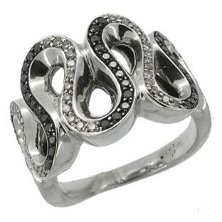 Кольцо с 80-ю бриллиантами