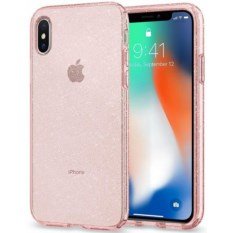 Чехол Spigen Liquid Crystal Glitter Rose Quartz для iPhone X