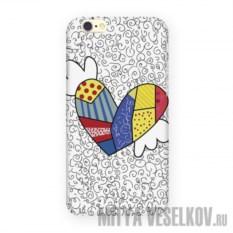 Чехол для IPhone 6 Цветное сердце с крыльями