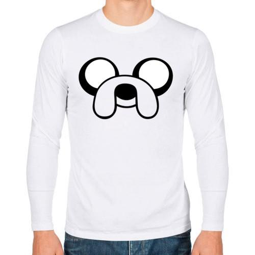 Мужская футболка с длинным рукавом Собака Джейк