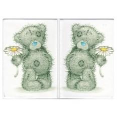 Обложка на паспорт Мишка с цветком