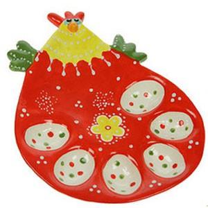 Тарелка под пасхальные яички и кулич «Курочка»