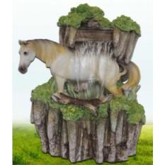 Декоративный фонтан Белая лошадь и водопад